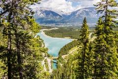 Lago y Canmore spray Fotos de archivo libres de regalías