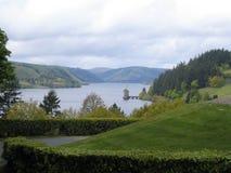 Lago y castillo Fotos de archivo