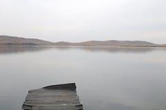 Lago y embarcadero Imagen de archivo libre de regalías