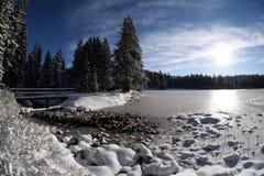 Lago y hielo Foto de archivo libre de regalías