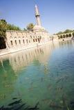Lago y mezquita santos Foto de archivo libre de regalías