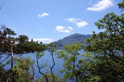 Lago y montañas del parque nacional de Killarney, Irlanda Fotografía de archivo libre de regalías