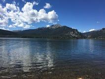 Lago y nubes Foto de archivo