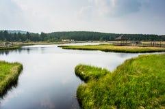 Lago y parque country Fotos de archivo