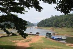 Lago y parque nacional, Thekkady, Kerala Periyar Imagen de archivo