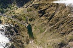 Lago y presa, Orobie, Italia Gleno Fotografía de archivo libre de regalías
