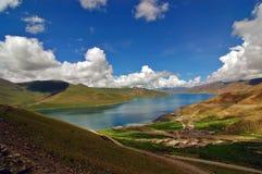 Lago Yamdrok Fotografia de Stock