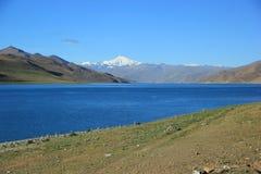Lago Yamdrok Fotografia Stock Libera da Diritti