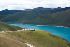Lago Yamdrok Fotografia de Stock Royalty Free