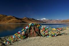 Lago Yamdrok Yumts en Tíbet imágenes de archivo libres de regalías