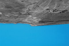 Lago yang nel Tibet Fotografia Stock Libera da Diritti