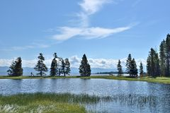 Lago Yellowstone foto de stock
