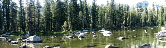 Lago a Yosemite fotografia stock