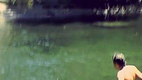 Lago Yosemite NP stock footage