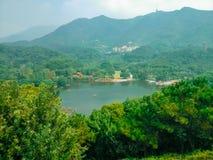 Lago Yuanshen, Shenzhen, provincia del Guangdong Fotografia Stock Libera da Diritti