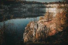 Lago Zakrzowek a Cracovia, Polonia fotografia stock libera da diritti