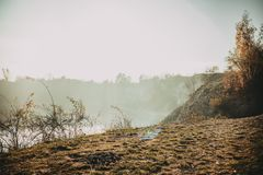Lago Zakrzowek a Cracovia, Polonia immagine stock libera da diritti