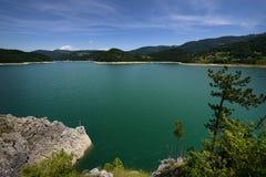 Lago Zaovine Fotos de archivo