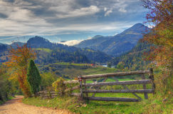 Lago Zaovine, Sérvia ocidental - imagem do outono imagens de stock royalty free