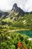 Lago Zelene Pleso in alte montagne di tatras, Slovacchia Fotografie Stock Libere da Diritti