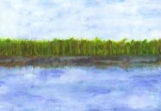 Lago (Zen Pictures II, 2012) Immagini Stock Libere da Diritti