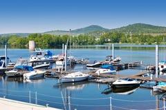 Lago Zernosecke vicino a Litomerice, regione di Porta Bohemica, repubblica Ceca Fotografia Stock Libera da Diritti