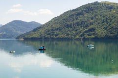 Lago Zlatar in Serbia Fotografia Stock
