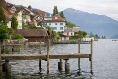 Lago Zug en Suiza Foto de archivo