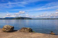 Lago Zug in Svizzera Fotografie Stock