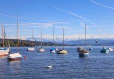Lago Zurich Imagenes de archivo