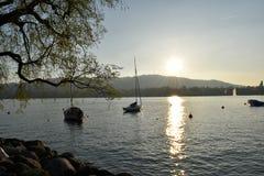 Lago zurich Fotografie Stock