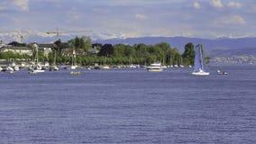 Lago Zurich en Suiza almacen de video