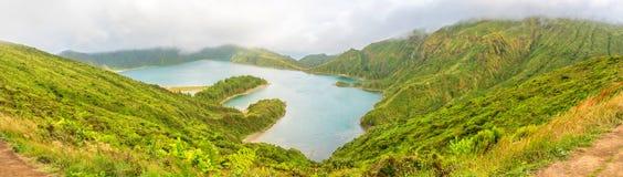 Lagoa делает Fogo на острове Sao Мигеля в Азорских островах, Португалии Стоковая Фотография