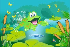 A lagoa Fotografia de Stock Royalty Free