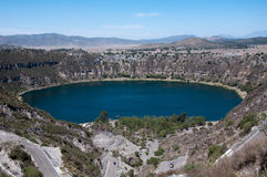 Lagoa Aljojuca.Mexico Imagem de Stock