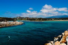 Lagoa Austrália de Narooma da entrada foto de stock royalty free