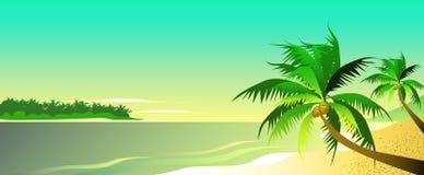 Lagoa azul ilustração royalty free