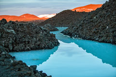 Lagoa azul Foto de Stock Royalty Free