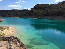 Lagoa azul Fotos de Stock Royalty Free