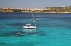 Lagoa azul - Comino - Malta Fotografia de Stock Royalty Free