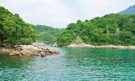 Lagoa azul em dos Reis de Angra. Rio de Janeiro foto de stock royalty free