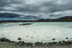 Lagoa azul em Islândia Fotografia de Stock Royalty Free