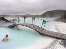 Lagoa azul em Islândia Fotos de Stock Royalty Free