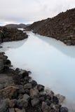 Lagoa azul em Islândia Fotos de Stock
