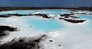 Lagoa azul em Islândia reykjavik Imagem de Stock Royalty Free
