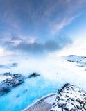 A lagoa azul famosa perto de Reykjavik, Islândia fotografia de stock