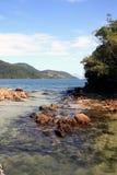 Lagoa azul ilha重创的里约热内卢状态巴西 免版税库存图片