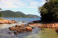 Lagoa azul ilha重创的里约热内卢状态巴西 免版税库存照片