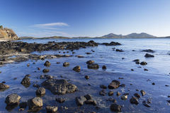 Lagoa azul, ilha de Nacula, ilhas de Yasawa, Fiji Foto de Stock Royalty Free