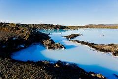 Lagoa azul, Islândia Imagem de Stock Royalty Free